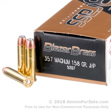 50 Rounds of 158gr JHP .357 Mag Ammo by Blazer