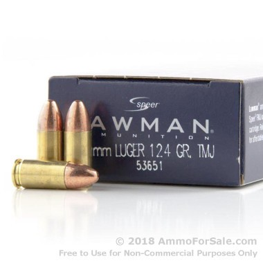 1000 Rounds of 124gr TMJ RN 9mm Ammo by Speer