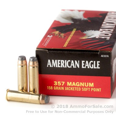 1000 Rounds of 158gr JSP .357 Mag Ammo by Federal