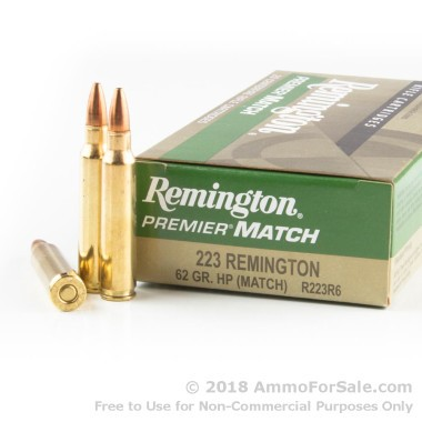 20 Rounds of 62gr HP .223 Ammo by Remington