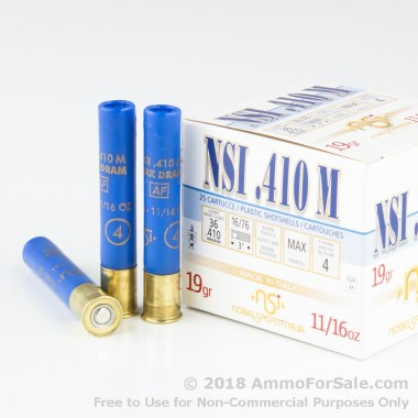 25 Rounds of 11/16 ounce #4 shot .410 Ammo by NobelSport