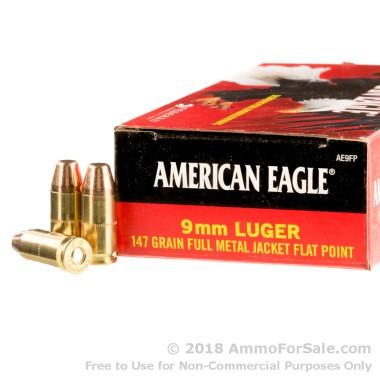 50 Rounds of 147gr FMJ 9mm Ammo by Federal