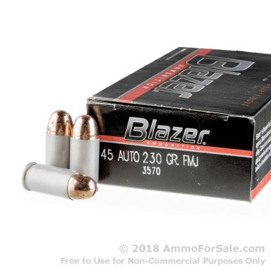 1000 Rounds of 230gr FMJ .45 ACP Ammo by Blazer