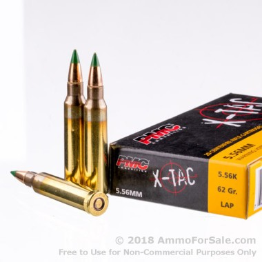 20 Rounds of 62gr FMJ 5.56x45 Ammo by PMC