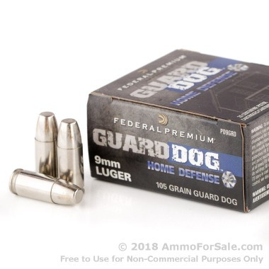 20 Rounds of 105gr EFMJ 9mm Ammo by Federal