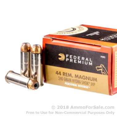 20 Rounds of 240gr JHP .44 Mag Ammo by Federal