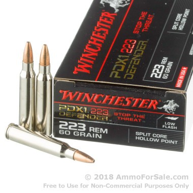 20 Rounds of 60gr JHP .223 Ammo by Winchester PDX-1
