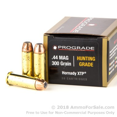 20 Rounds of 300 gr JHP .44 Mag Ammo by ProGrade Ammunition
