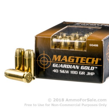 20 Rounds of 180gr JHP .40 S&W Ammo by Magtech