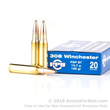 20 Rounds of 165gr PSP .308 Win Ammo by Prvi Partizan