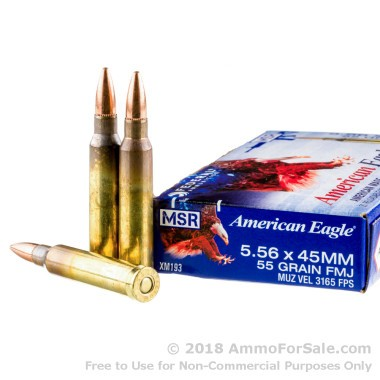 20 Rounds of 55gr FMJBT 5.56x45 Ammo by Federal