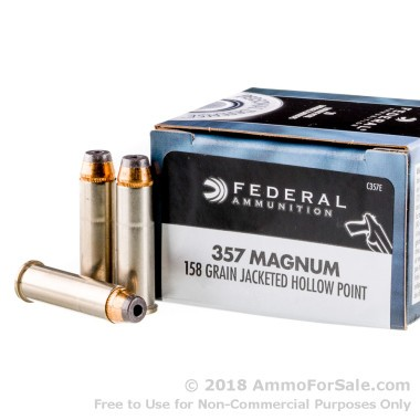 20 Rounds of 158gr JHP .357 Mag Ammo by Federal