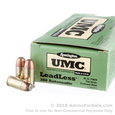 50 Rounds of 95gr FNEB .380 ACP Ammo by Remington