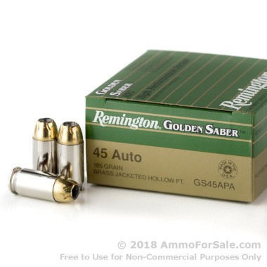 25 Rounds of 185gr JHP .45 ACP Ammo by Remington