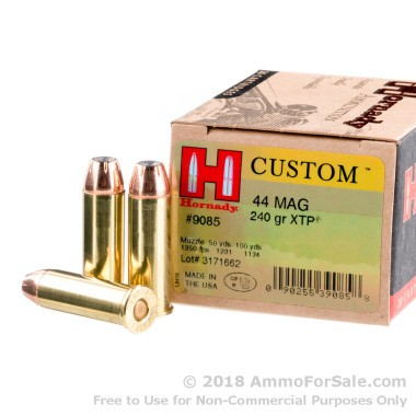 20 Rounds of 240gr JHP .44 Mag Ammo by Hornady
