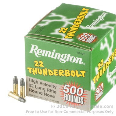 500  Rounds of 40gr LRN .22 LR Ammo by Remington