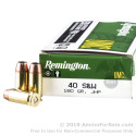 50 Rounds of 180gr JHP .40 S&W Ammo by Remington