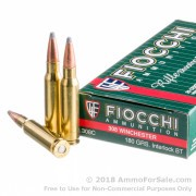 20 Rounds of 180gr SPBT .308 Win Ammo by Fiocchi