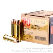 25 Rounds of 158gr JHP .357 Mag Ammo by Hornady