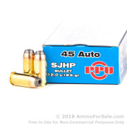 50 Rounds of 185gr SJHP .45 ACP Ammo by Prvi Partizan