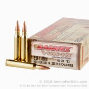 20 Rounds of 62gr TSX 5.56x45 Ammo by Barnes VOR-TX