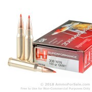 20 Rounds of 150gr GMX .308 Win Ammo by Hornady Superformance
