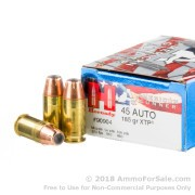 20 Rounds of 185gr JHP .45 ACP Ammo by Hornady