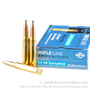 20 Rounds of 150gr SP 30-06 Springfield Ammo by Prvi Partizan