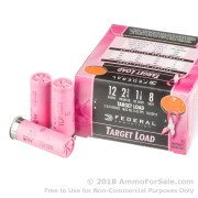 250 Rounds of 1 1/8 ounce #8 shot 12ga Pink Hull Ammo by Federal