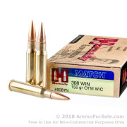 20 Rounds of 155gr OTM .308 Win Ammo by Hornady