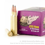 500 Rounds of 62gr Soft Point .223 Ammo by Golden Bear