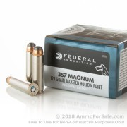 20 Rounds of 125gr JHP .357 Mag Ammo by Federal