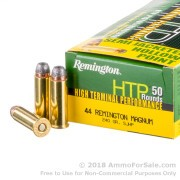 500 Rounds of 240gr SJHP .44 Mag Ammo by Remington HTP