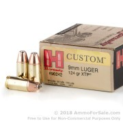 25 Rounds of 124gr JHP 9mm Ammo by Hornady