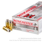 50 Rounds of 155gr Silvertip JHP .40 S&W Ammo by Winchester