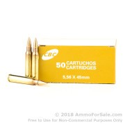 50 Rounds of 55gr FMJ 5.56x45 Ammo by CBC