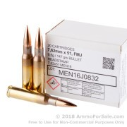 20 Rounds of 147gr FMJ 7.62x51mm Ammo by MEN