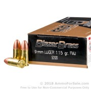 50 Rounds of 115gr FMJ 9mm Ammo by Blazer
