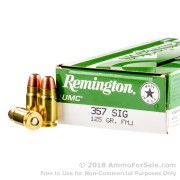 50 Rounds of 125gr FMJ .357 SIG Ammo by Remington