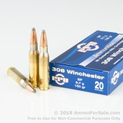 20 Rounds of 150gr SP .308 Win Ammo by Prvi Partizan