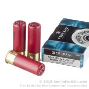 250 Rounds of  00 Buck 12ga Ammo by Federal