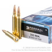 20 Rounds of 64gr SP .223 Ammo by Federal