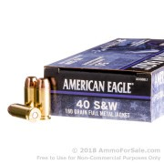 40 S&W - 180 gr FMJ - American Eagle C.O.P.S. - 50 Rounds