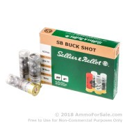 10 Rounds of  00 Buck 12ga Ammo by Sellier & Bellot