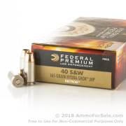 1000 Rounds of 165gr JHP .40 S&W Ammo by Federal