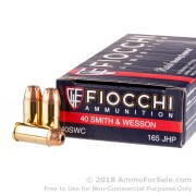 1000 Rounds of 165gr JHP .40 S&W Ammo by Fiocchi