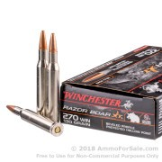 20 Rounds of 130gr HP .270 Win Ammo by Winchester