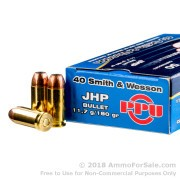 50 Rounds of 180gr JHP .40 S&W Ammo by Prvi Partizan