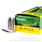 500  Rounds of 158gr Lead Wadcutter .38 Spl Ammo by Remington