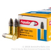 50 Rounds of 40gr LRN .22 LR Ammo by Aguila SuperExtra